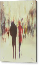 Grafton Street 2 Acrylic Print by Norma Slack