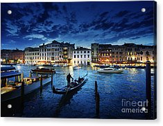 Grand Canal In Sunset Time, Venice Acrylic Print