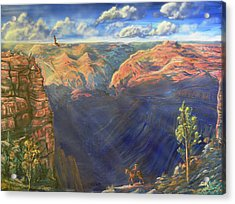 Acrylic Print featuring the painting Grand Canyon And Mather Point by Chance Kafka