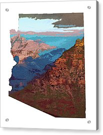 Grand Canyon In The Shape Of Arizona Acrylic Print