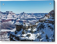 Grand Canyon Snow Acrylic Print