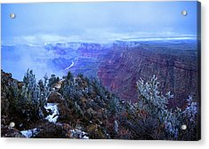 Grand Canyon Winter Scene Acrylic Print