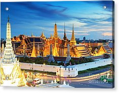 Grand Palace And Wat Phra Keaw At Acrylic Print by Southerntraveler