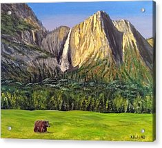 Acrylic Print featuring the painting Grandeur And Extinction by Kevin Daly