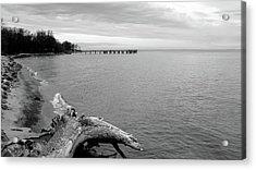 Gray Day On The Bay Acrylic Print