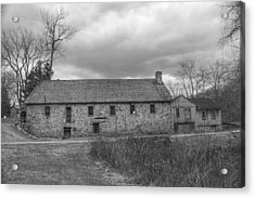 Grey Skies Over Fieldstone - Waterloo Village Acrylic Print