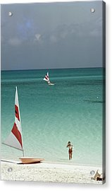 Great Harbour Cay Acrylic Print by Slim Aarons