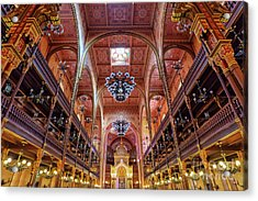 Great Synagogue In Budapest Acrylic Print