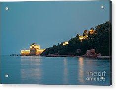 Great Wall At Night Acrylic Print