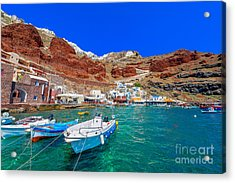 Greece Santorini Island In Cyclades Acrylic Print
