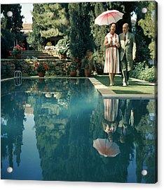 Greek Garden Acrylic Print by Slim Aarons