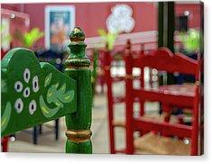 Green Fair Chair Acrylic Print