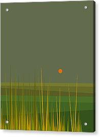 Green Fields After The Rain Acrylic Print
