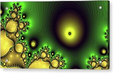 Green Glowing Bliss Abstract Acrylic Print