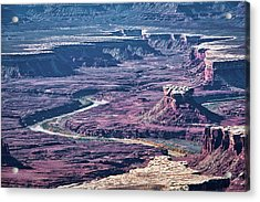 Acrylic Print featuring the photograph Green River Moonscape by Andy Crawford