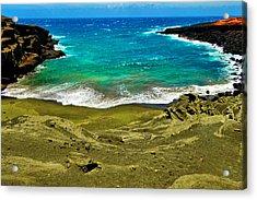 Green Sand Beach Acrylic Print