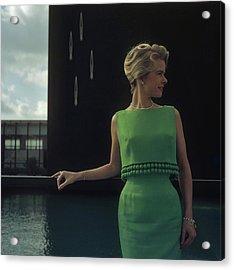 Green Two-piece Acrylic Print