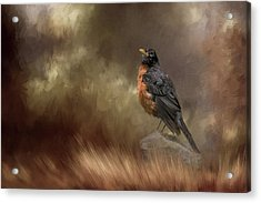 Greeting Autumn Acrylic Print