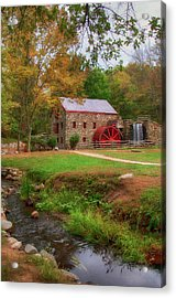 Acrylic Print featuring the photograph Grist Mill In Fall by Joann Vitali