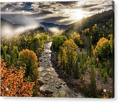 Acrylic Print featuring the photograph Gros Ventre River Light by Leland D Howard