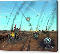 Ground Battle Acrylic Print