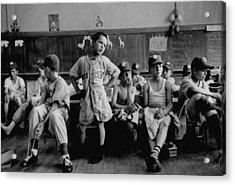 Group Of Boys Club Little League Basebal Acrylic Print