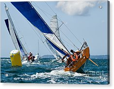 Group Of Yacht At Race Regatta With Acrylic Print