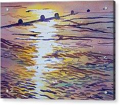 Groynes And Glare Acrylic Print