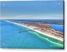 Gsp Pier And Beach Acrylic Print