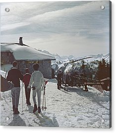 Gstaad Acrylic Print by Slim Aarons