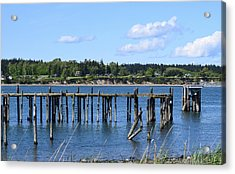 Guemes Island And Old Pier Acrylic Print