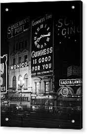 Guinness Time Acrylic Print by General Photographic Agency
