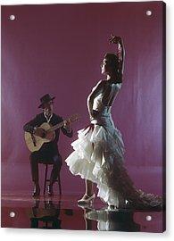 Guitarist Playing Guitar And Woman Acrylic Print