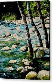 Gushing Waters Acrylic Print