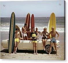 Guys And Gals On The Beach Acrylic Print