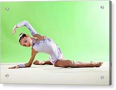 Gymnast, Pose, Floor, Purple Leotard Acrylic Print