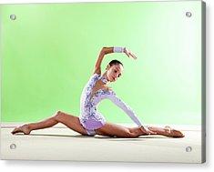 Gymnast, Split Floor Looking Back Acrylic Print