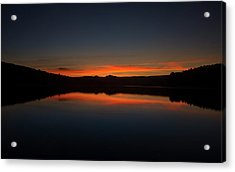 Sunset In The Reservoir Acrylic Print