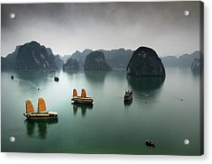 Ha Long Bay Acrylic Print by Copyright Mark Keelan