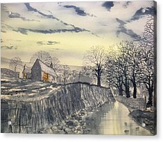 Hag Dyke By Moonlight Acrylic Print