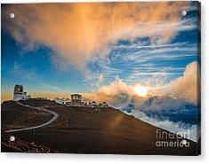 Haleakala Crater At Sunset, At Acrylic Print