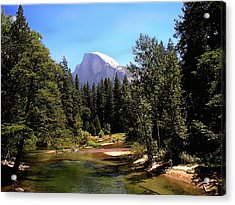 Half Dome From Ahwanee Bridge - Yosemite Acrylic Print
