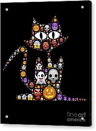 Halloween Cat Acrylic Print