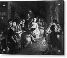 Halloween Gathering Acrylic Print by Hulton Archive