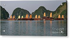 Acrylic Print featuring the photograph Halong Bay--waiting For Sunrise by PJ Boylan