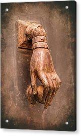 Hand Door Knocker Toulouse France Acrylic Print
