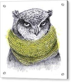 Hand Drawn Pencil Animal Illustration Acrylic Print