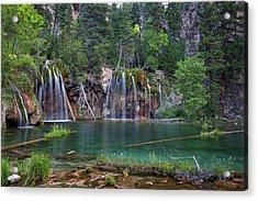 Acrylic Print featuring the photograph Hanging Lake Colorado by Nathan Bush