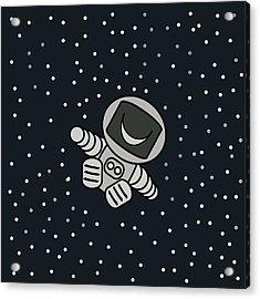 Happy Astronaut Acrylic Print