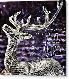 Happy Holiday Sparkle Acrylic Print